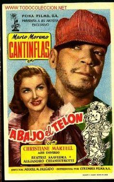 CANTINFLAS   -   ABAJO EL TELON   (Cine - Folletos de Mano - Comedia)