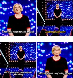 Sarah Millican on our love of food. | 21 Celebrity Quotes That Perfectly Sum Up Life In Britain