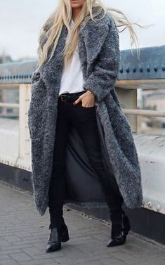 Oversized comfy coat to throw over anything.