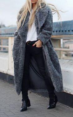 Oversized coats.