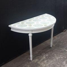 Upcycled Hall table with Handmade Moroccan tiles...