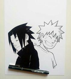 Naruto Sketch Drawing, Anime Boy Sketch, Naruto Drawings, Anime Drawings Sketches, Cool Art Drawings, Naruto And Sasuke, Naruto Uzumaki Art, Naruto Cute, Anime Naruto