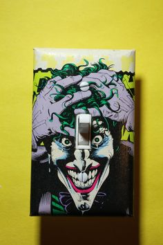 Joker Light Switch Plate Cover Comic Book Batman by ComicRecycled