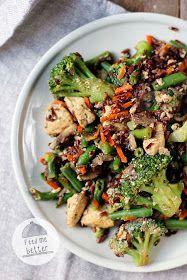 Feed Me Better: Pomysł na fit obiad - smażony ryż. Healthy Meal Prep, Healthy Recipes, Healthy Food, Tasty Dishes, Food Photo, Pasta Salad, Broccoli, Food And Drink, Beef