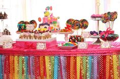 candy land / rainbow Birthday Party Ideas and rainbow wedding theme