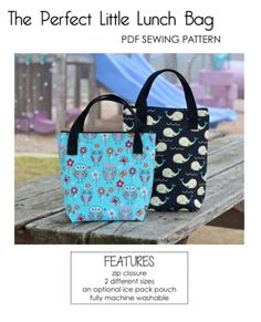 perfect little lunch bag pattern