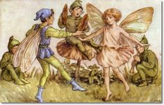 Cicely Mary Barker - Other Miscellaneous Works - Elves and Fairies Postcards - The Dance of the Fairies Painting