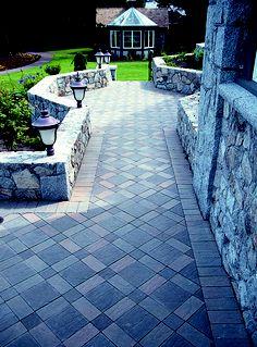 Concrete paver walkway