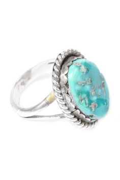 Vintage Whitehorse Sterling & Turquoise Ring on HauteLook