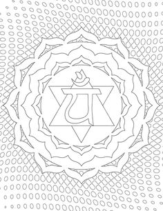 Heart Chakra Coloring Page