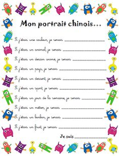 Idées de présentation des élèves pour la rentrée French Verbs, French Grammar, First Day Of School Activities, Writing Activities, Classroom Activities, Teaching French, Teaching English, French Flashcards, School