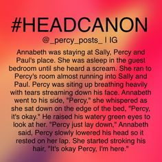 Paul and Sally looked at the pair of them. Sally glanced at Paul to nod toward the door. Annabeth had it handled. She and Paul could go back to bed.