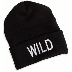 AE Wild Beanie ($5.99) ❤ liked on Polyvore featuring accessories, hats, black, beanie cap hat, embroidery hats, beanie cap, graphic hats and beanie hat