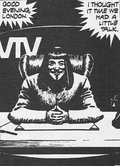 V for Vendetta graphic novel V For Vendetta Speech, V Pour Vendetta, Pop Art Vintage, The Fifth Of November, Rockabilly Cars, Dark Art Drawings, Nerd, Vintage Comics, Shows