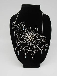 Wire Jewelry, Jewelry Crafts, Beaded Jewelry, Wire Crafts, Victorian Jewelry, Gothic Jewelry, Spider Art, Spider Webs, Levitation Photography