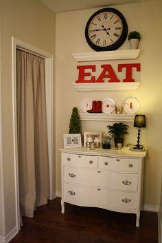 white dresser display spot