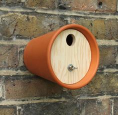 Wild about this idea.  Terracotta Bird House. This is such a simple idea and such a generous one.
