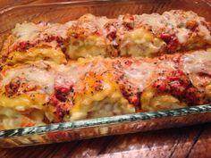 Messy Cookin: Shrimp Lasagna Roll Ups