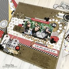 What a Magial Moment Layout Disney Scrapbook Pages, Scrapbooking Layouts, Black Acrylic Paint, Arts And Crafts, Paper Crafts, Lay Outs, Studio Calico, American Crafts, Scrapbooks