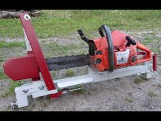 Firewood chainsaw processing on chainsaw bench Malkas zāģis - YouTube