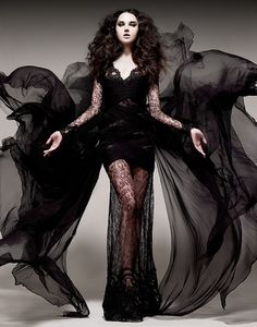 Loving this dress with these beautiful side wings and perfect for Dark Beauty :)