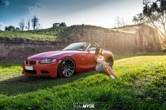 BMW with girl by PsykoMysik by psykomysik on DeviantArt Bmw Z4 Roadster, Bmw Girl, Bmw Z3, Car Girls, Hot Cars, Cars And Motorcycles, Luxury Cars, Dream Cars, Convertible