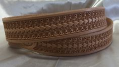 Hand-tooled western leather belts - custom leather belts - Lone Tree Leather…