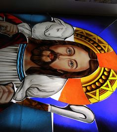 stained glass Egyptian My work. Cairo Egypt, Egyptian Art, Stained Glass, Anime, Egypt Art, Cartoon Movies, Anime Music, Stained Glass Panels, Leaded Glass