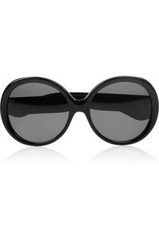 Yves Saint Laurent                                  Round-frame acetate sunglasses
