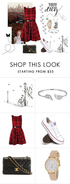 """""""#173"""" by naianesilva on Polyvore featuring Bling Jewelry, Converse, Chanel, Kate Spade, Animal Planet, women's clothing, women, female, woman and misses"""