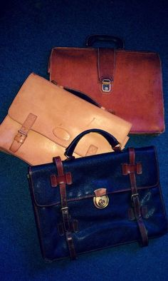 Scooped up 3 vintage Italian leather bags