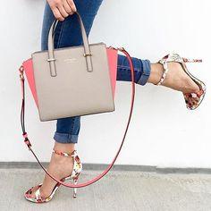 Is it spring yet?  #sandals #handbag