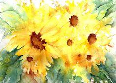 """""""inspired by sunflowers"""" - lyn frye"""