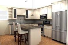 Superieur #Chicago #kitchen #remodeling Rendering Using 20/20 Software