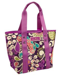 """NWT Vera Bradley """"Plum Crazy"""" Mesh Tote. Starting at $1 on Tophatter.com!"""