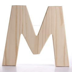 m | Unfinished Bold Wood Letter M - Word and Letter Cutouts - Unfinished ...