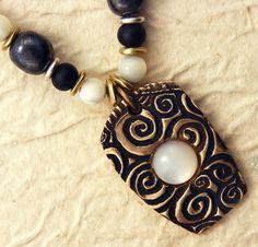 Spiral Pendant  Handcrafted Bronze Spiral by WildRavenStudio, $48.00