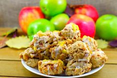 Award-winning Toffee Apple Pie Cookies – Fall is just such a cozy time of year and apple is one of the most comforting of all the fall flavours. That was my inspiration for this recipe for apple cookies. Baked Cake Mix Donut Recipe, Apple Pie Cookie Recipe, Apple Pie Cookies, Cookie Pie, Apple Pie Recipes, Cookie Recipes, Pumpkin Jam, Fall Dessert Recipes, Desserts