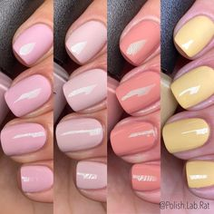 """Second part of the @opi Spring 2021 """"Hollywood"""" Collection. This section screamssss Spring to me. Full review is up on my YouTube channel… Top Nail, Pretty Makeup, How To Make Hair, Nail Trends, Opi, Cute Nails, Nail Polish, Nail Art, My Style"""