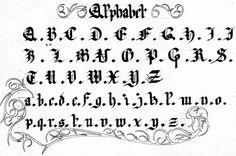 Fonds d'écran Art - Crayon > Fonds d'écran Calligraphie Mon Alphabet par theswordman - Hebus.com