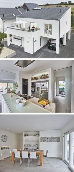die 12 besten bilder von passivhaus fassaden einfamilienhaus und flachdach. Black Bedroom Furniture Sets. Home Design Ideas