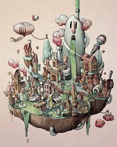 Une sélection des dernières créations de l'illustratrice anglaiseMaria Tiurina, dont nous avions déjà parlé avec son excellent projetCat Sins, les 7 p