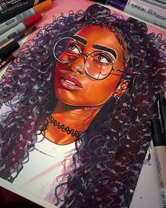 """7,804 Likes, 219 Comments - Cerena Robertson (artist) (@ohsocerena) on Instagram: """"Finished the drawing of @anjeez As usual, materials used were: Prismacolor pencils, blick markers,…"""""""