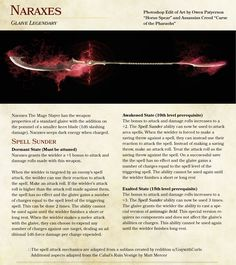 Naraxes the Mage Slayer Legendary Magic Glaive Dungeons And Dragons 5e, Dungeons And Dragons Homebrew, Fantasy Weapons, Fantasy Rpg, Dnd Characters, Fantasy Characters, Dnd Classes, Dnd Funny, Dnd 5e Homebrew