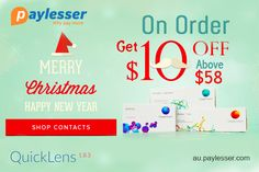 Merry Christmas - Get an additional $10 discount when you spend $59 or above at #Quickens #Coupon #Paylesser  Why pay more?
