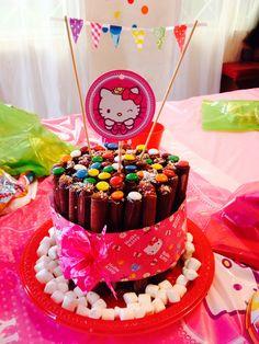Torta de cuchuflís de Hello Kitty