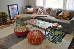 Create an eclectic living room with colorful and cozy accents! Living Room Images, Living Spaces, Living Rooms, Sauder Woodworking, Eclectic Living Room, Minimalist Living, Accent Chairs, Ottoman, Cozy