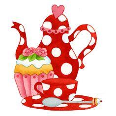 Natasja van der Wal   Tea pot cupcake cup