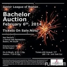 Event details for the #JLBoston Bachelor Auction