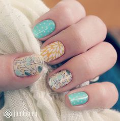 Regram from Jamberry Nails.love when fan great nail wrap combinations like this! Shop more beautiful looks and make your own nail wraps c. Great Nails, Fabulous Nails, Gorgeous Nails, Cute Nails, Do It Yourself Nails, Jamberry Nail Wraps, Nail Art Galleries, Manicure And Pedicure, Pedicures